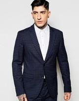 Sisley Slim Fit Mini Plaid Suit Jacket