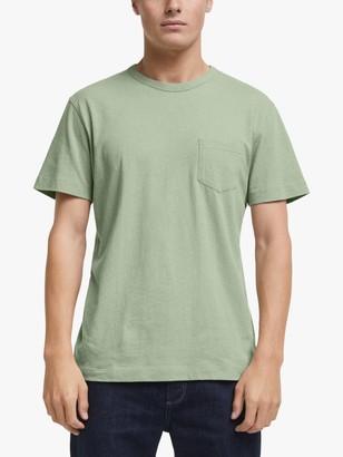 John Lewis & Partners Cotton Linen Pocket T-Shirt
