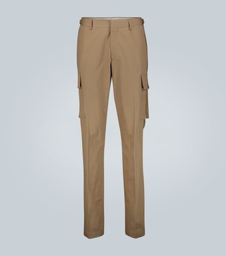 Burberry Canvas-trimmed cotton cargo pants