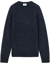 Jigsaw Two Tone Wool Cotton Crew Neck Jumper