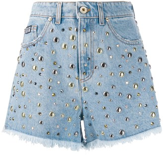 Versace Jeans Couture Studded Denim Shorts