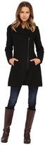 Jessica Simpson Asymmetrical Braided Wool Coat with Shawl Collar