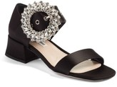 Miu Miu Women's Crystal Buckle Mary Jane Sandal