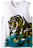 Kenzo Tiger In Grass Sleeveless T-Shirt Boy's Sleeveless