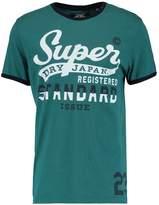Superdry Standard Issue Ringer Print Tshirt Aberdeen Green
