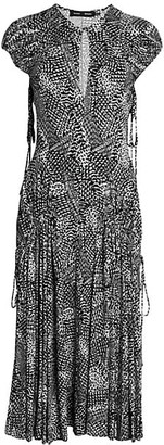 Proenza Schouler Printed Jersey Midi Dress