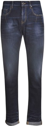 Les Hommes Slim Fit With Leather Pocket Jeans