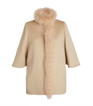 Harrods Fox Fur-Trim Cape