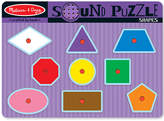 Melissa & Doug Kids Toy, Shapes Sound Puzzle