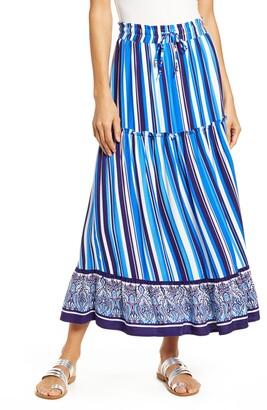 Gibson x Hi Sugarplum! Portofino Tiered Midi Skirt