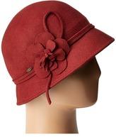 Scala Wool Felt Cloche w/ Flowers Caps