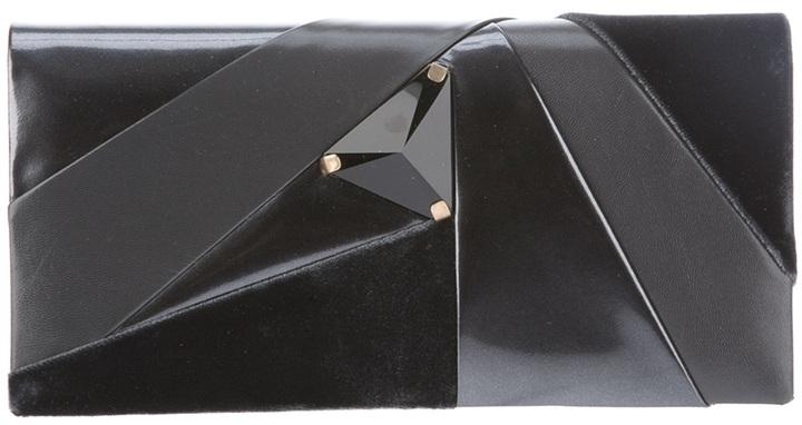 Giorgio Armani leather and silk clutch