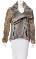 Helmut Lang Fur Leather-Trimmed Jacket