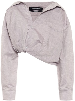 Jacquemus La Chemise Mejean linen and cotton shirt