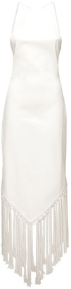 ATTICO Fringed Cotton Blend Midi Dress