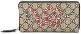 Gucci GG Supreme snake print wallet