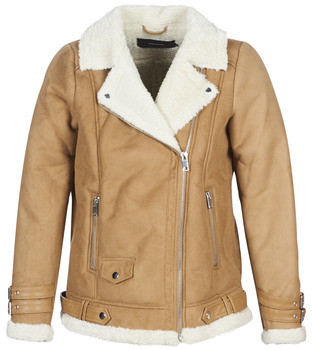 Vero Moda VMANNA women's Leather jacket in Brown
