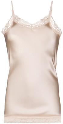 Max & Moi Longline Lace Trim Vest