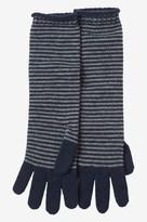 Toast Stripe Cashmere Wool Gloves