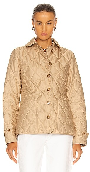 Thumbnail for your product : Burberry Fernleigh Quilted Jacket in Neutral