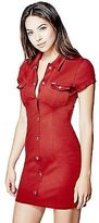 GUESS Women's Arabelle Ponte Shirtdress