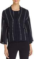 Emporio Armani Textured Contrast-Detail Pleated Cardigan