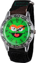 Sesame Street Boys Green Camo Oscar The Grouch Time Teacher Strap Watch W003152