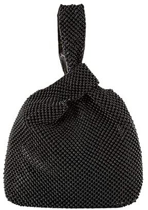 Jessica McClintock Logan Ball Mesh Pouch (Black) Handbags