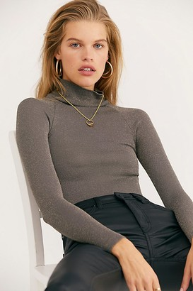 Free People Seamless Turtleneck Bodysuit by Intimately at Free People, Black, XS/S