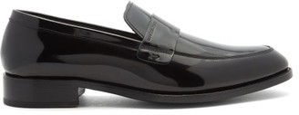 Givenchy Logo-debossed Patent-leather Loafers - Black
