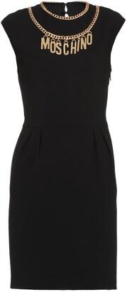 Moschino Logo Chain Necklace Sleeveless Dress