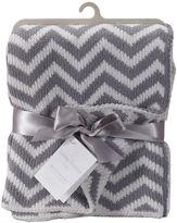 Living Textiles Chevron Knit Blanket, SLH TP Grey