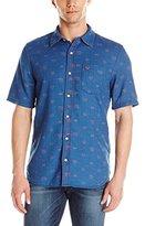 True Religion Men's Short Sleeve Button Down Shirt