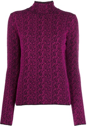 Versace Chevron knitted jumper