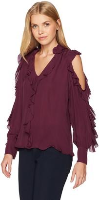 Parker Women's Elana Cold Shoulder Long Sleeve Blouse