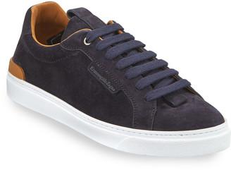 Ermenegildo Zegna Men's Ferrara Suede Low-Top Sneakers