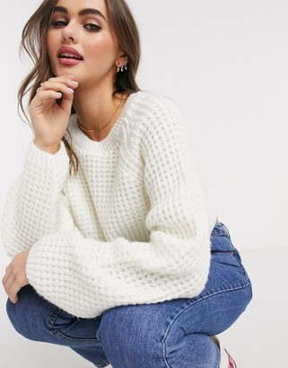 Asos DESIGN stitch detail chunky jumper