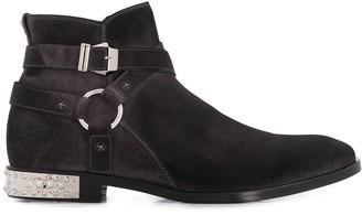 Philipp Plein Star Flat Cowboy Boots