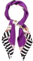 Gucci Silk Abstract Printed Scarf