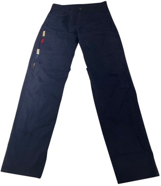 Y/Project Navy Cotton Trousers for Women