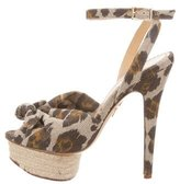 Charlotte Olympia Serena Leopard Sandals
