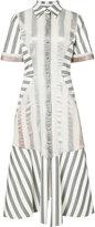 Christian Siriano contrast panel shirt dress - women - Cotton - 6