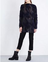 Simona Tagliaferri Geometric-pattern wool-blend tunic