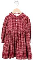 Papo d'Anjo Girls' Checked Button-Up Dress