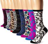 Betsey Johnson Women's Wild Animal Crew Socks Gift Box 9-Pack