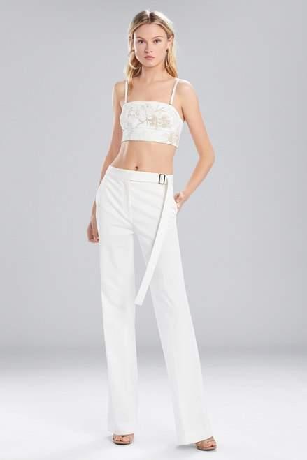 Josie Natori Bottom Weight Cotton High Waisted Pants