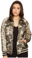 Members Only Floral Reversible Souvenir Women's Coat