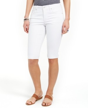Style&Co. Style & Co Cuffed Skimmer Denim Shorts, Created for Macy's