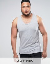 Asos PLUS Muscle Tank In Gray Marl