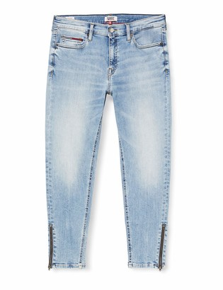 Tommy Jeans Women's Nora Mr Skinny Ankle Zip Rnl Straight Jeans